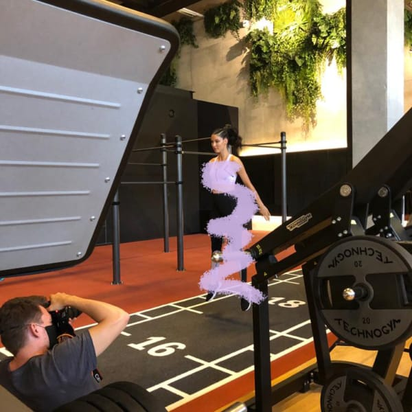 urbanhealthclub Fitnessstudio Ludwigsburg, neue Kollektion Fotoshooting Rebecca Mir, Puma, Breuninger in Ludwigsburg Fitness urbanhealthclub.